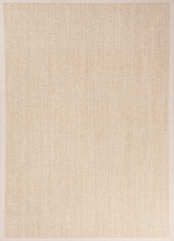 Naples Natural Solid Beige & Ivory Area Rug