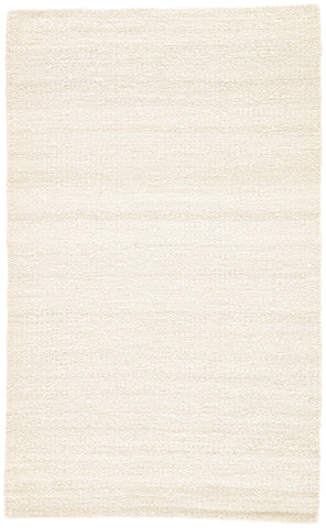 Hutton Natural Solid White Area Rug