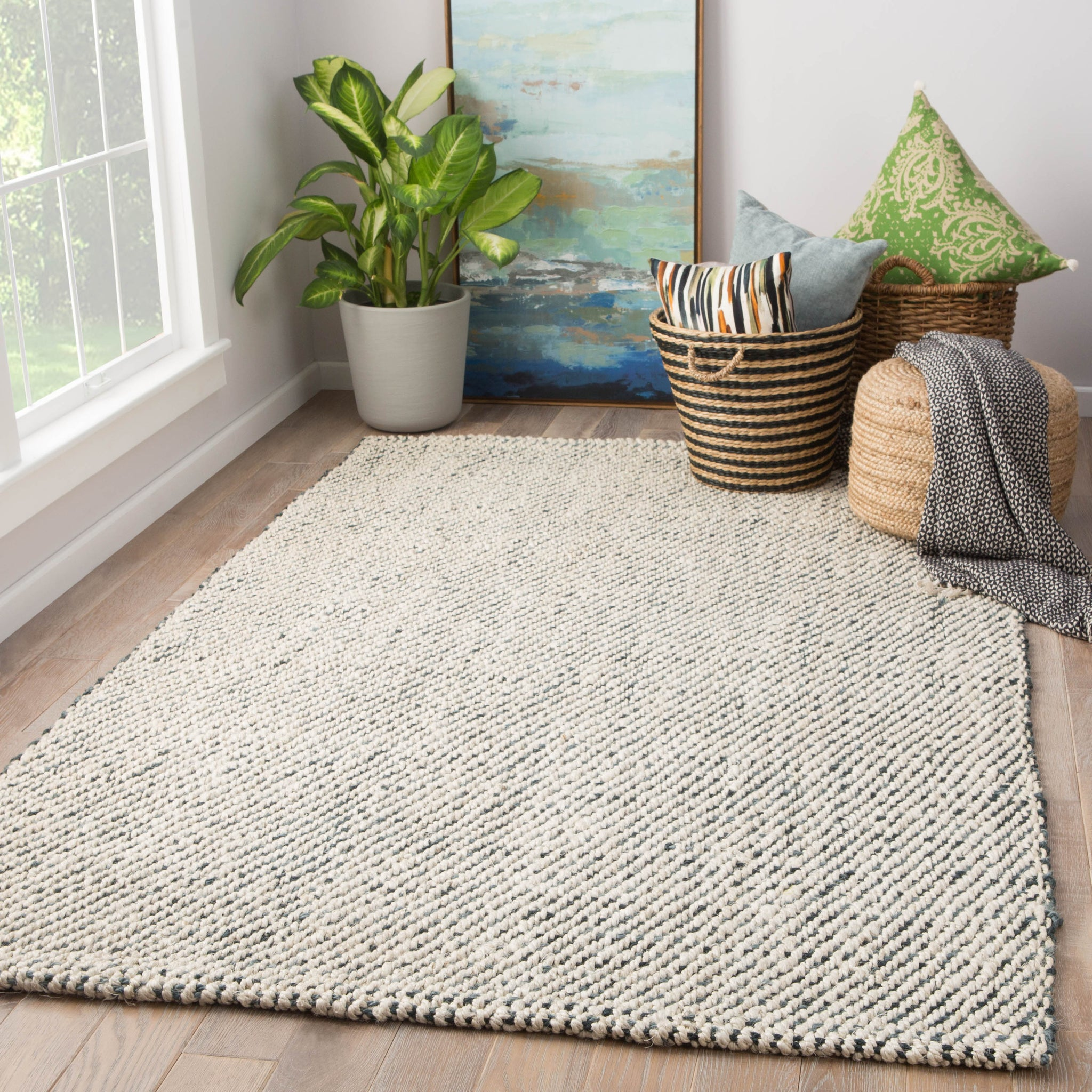 Almand Natural Solid White Amp Gray Area Rug Design By