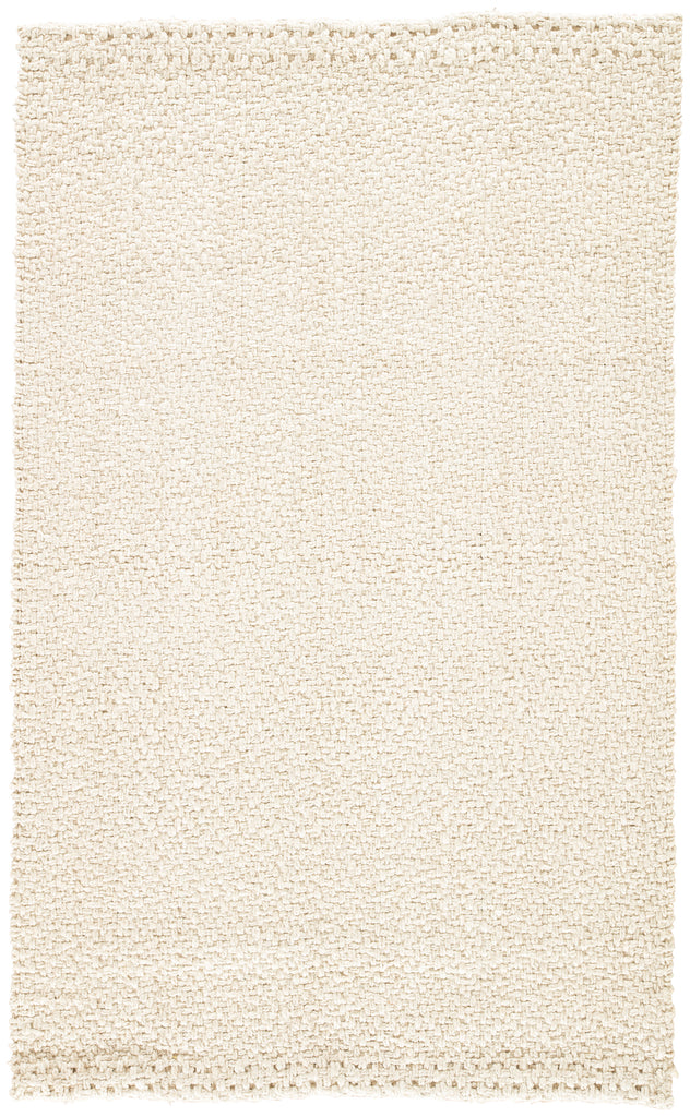 Tracie Natural Solid White Area Rug