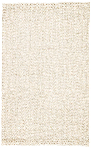 Tracie Natural Solid White Area Rug design by Jaipur