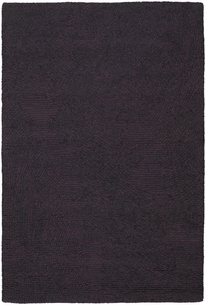 Navyan Collection Hand Tufted Area Rug In Purple Amp Black