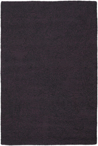 Navyan Collection Hand-Tufted Area Rug in Purple & Black