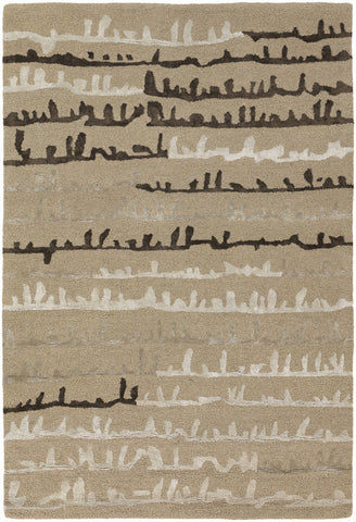 Navyan Collection Hand-Tufted Area Rug in Tan, Taupe, & Brown design by Chandra rugs