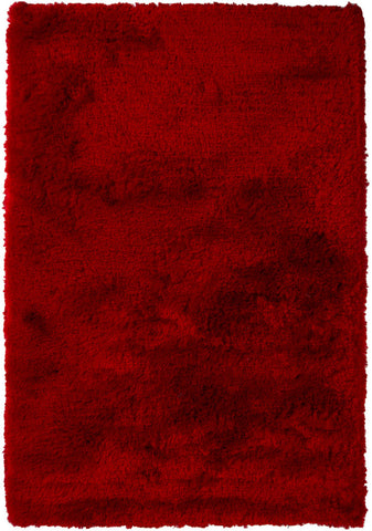 Naya Collection Hand-Woven Area Rug in Red
