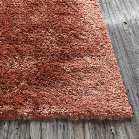 Naya Collection Hand-Woven Area Rug in Orange & Beige