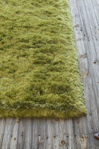 Naya Collection Hand-Woven Area Rug in Green Mix