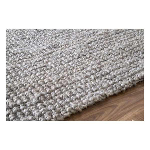 Machine Woven Chunky Loop Rug in Grey design by Nuloom