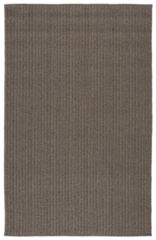 Iver Indoor/ Outdoor Solid Gray/ Taupe Rug by Jaipur Living