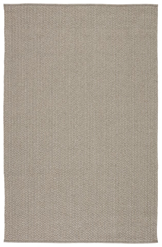 Iver Indoor/ Outdoor Solid Light Gray Rug by Jaipur Living