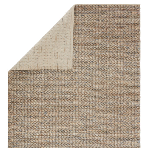 Calista Natural Solid Blue & Light Gray Area Rug
