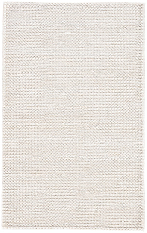 Calista Natural Solid White Area Rug