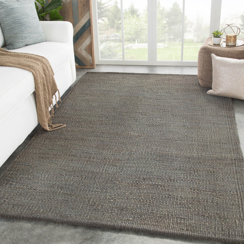 Anthro Solid Rug in Dark Shadow & Iron Gate design by Jaipur Living