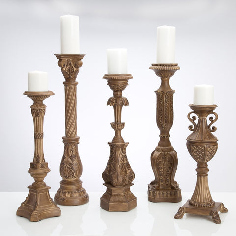 Set of 5 Tuscan Wash Candleholders