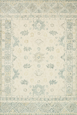 Norabel Rug in Ivory / Slate by Loloi