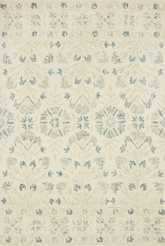 Norabel Rug in Ivory / Grey by Loloi
