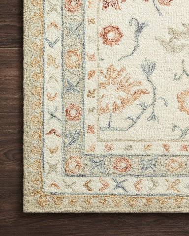 Norabel Rug in Ivory / Rust by Loloi