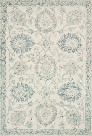 Norabel Rug in Ivory / Blue by Loloi