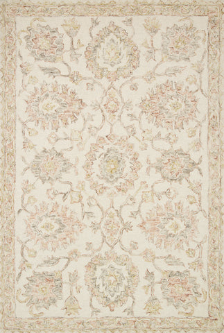Norabel Rug in Ivory / Blush by Loloi