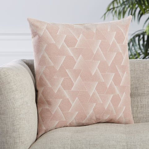 Jacques Geometric Pillow in Blush by Jaipur Living