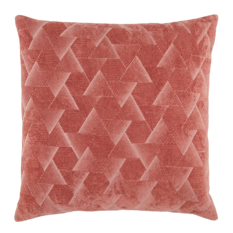 Jacques Geometric Pillow in Dark Pink by Jaipur Living
