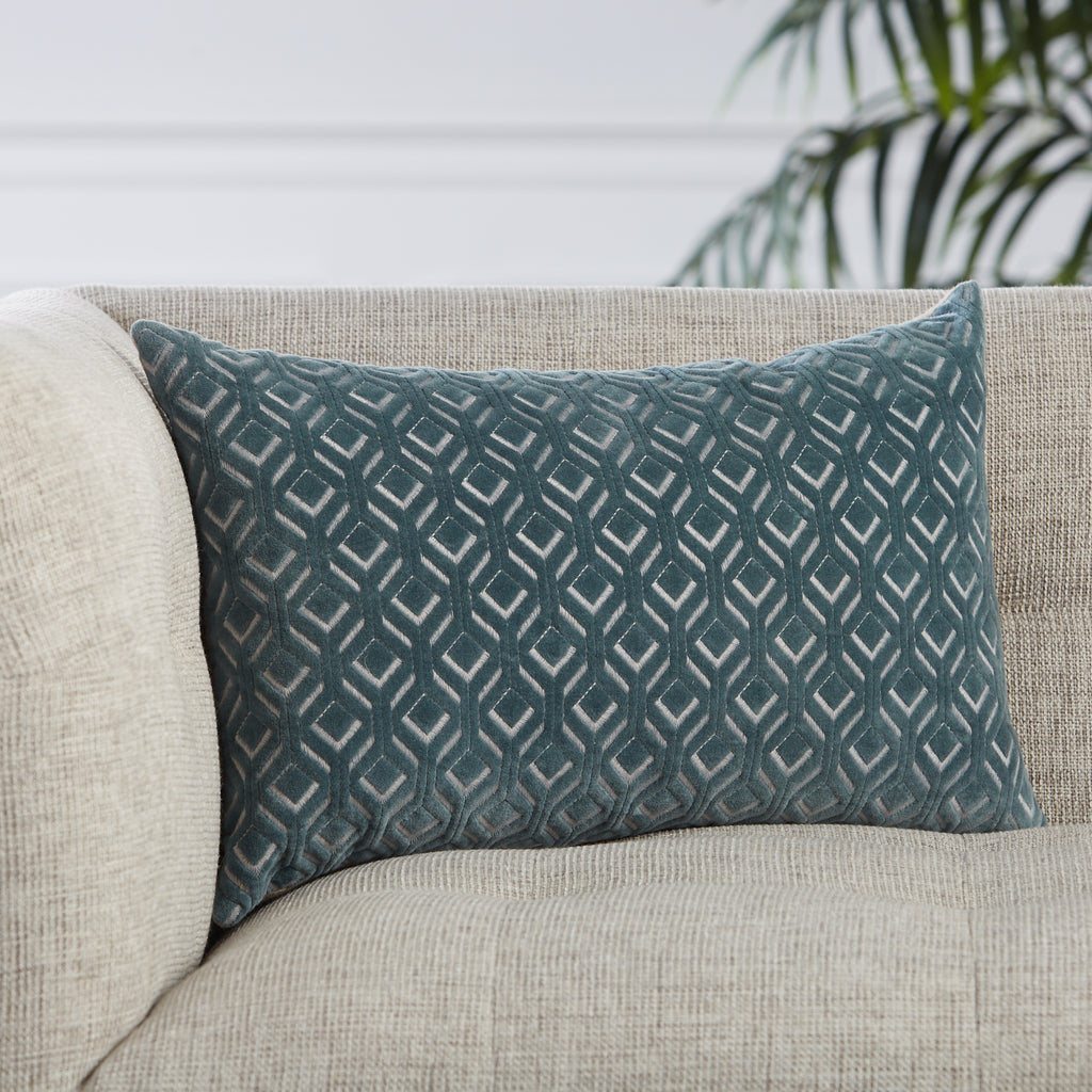 Colinet Trellis Pillow in Blue by Jaipur Living