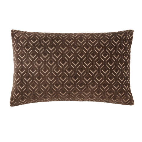Colinet Trellis Pillow in Dark Taupe by Jaipur Living