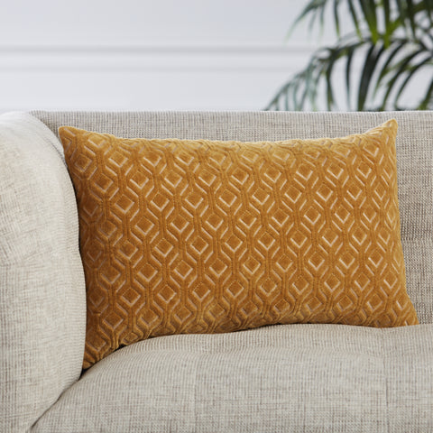 Colinet Trellis Pillow in Gold by Jaipur Living