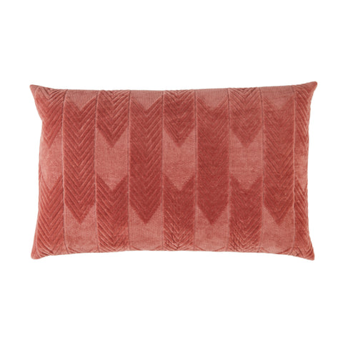 Bourdelle Chevron Pillow in Pink by Jaipur Living