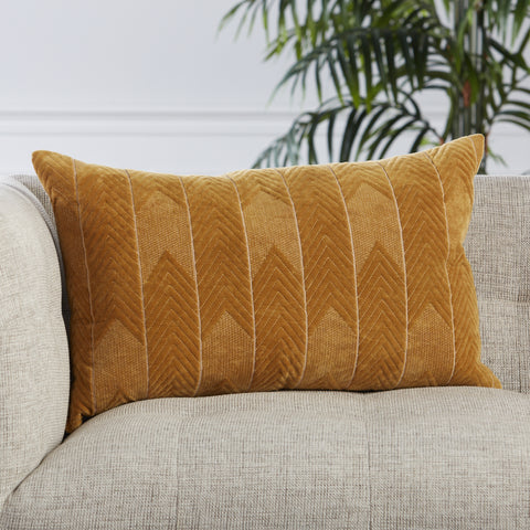 Bourdelle Chevron Pillow in Beige by Jaipur Living