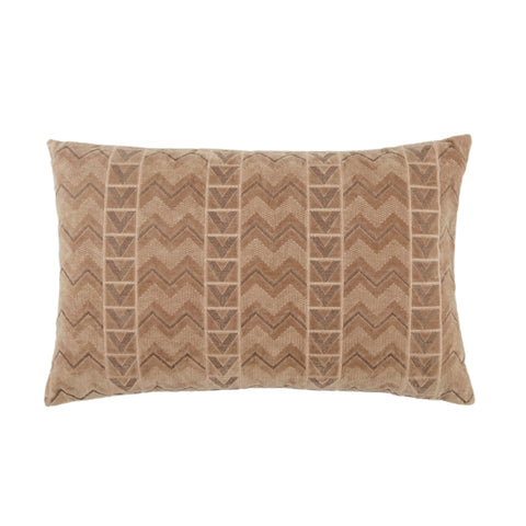 Janco Chevron Pillow in Beige & Gray by Jaipur Living