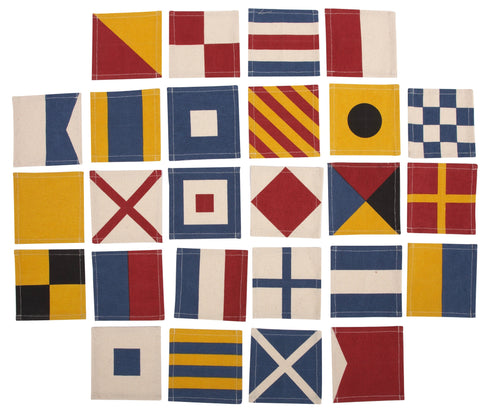Set of 26 Flags Coasters design by Thomas Paul
