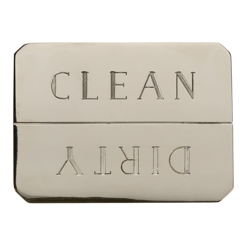 Clean/Dirty Dishwasher Magnet in Nickel Plated Brass design by Sir/Madam