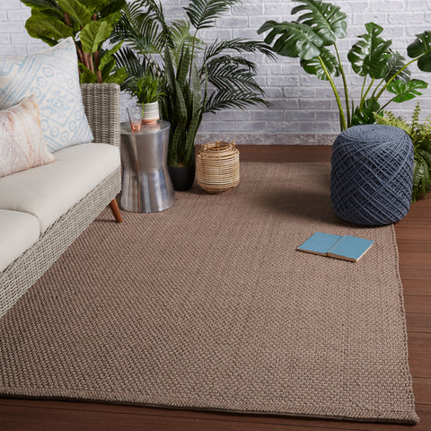 Kawela Indoor/Outdoor Solid Brown Rug by Jaipur Living