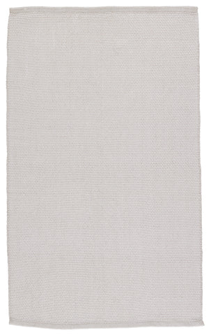 Kawela Indoor/Outdoor Solid Light Grey Rug by Jaipur Living