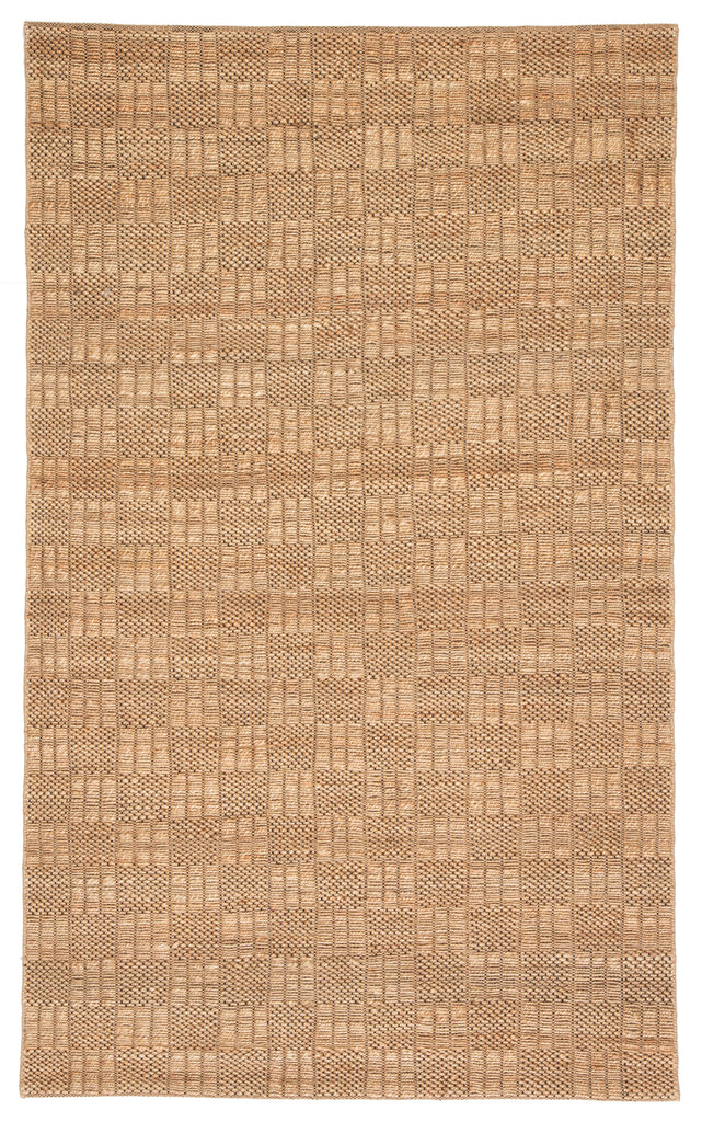 Lindo Natural Geometric Tan & Black Rug design by Jaipur