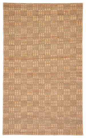 Lindo Natural Geometric Tan & Black Rug design by Jaipur Living