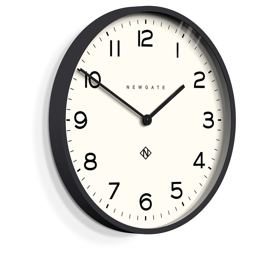 Number One Echo Clock in Black design by Newgate