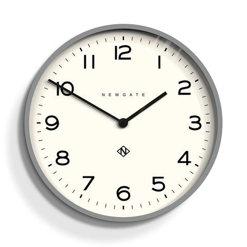 Number One Echo Clock in Grey