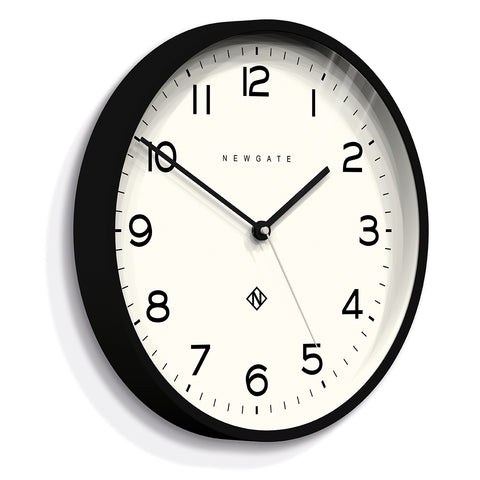 Number Three Echo Clock in Black design by Newgate