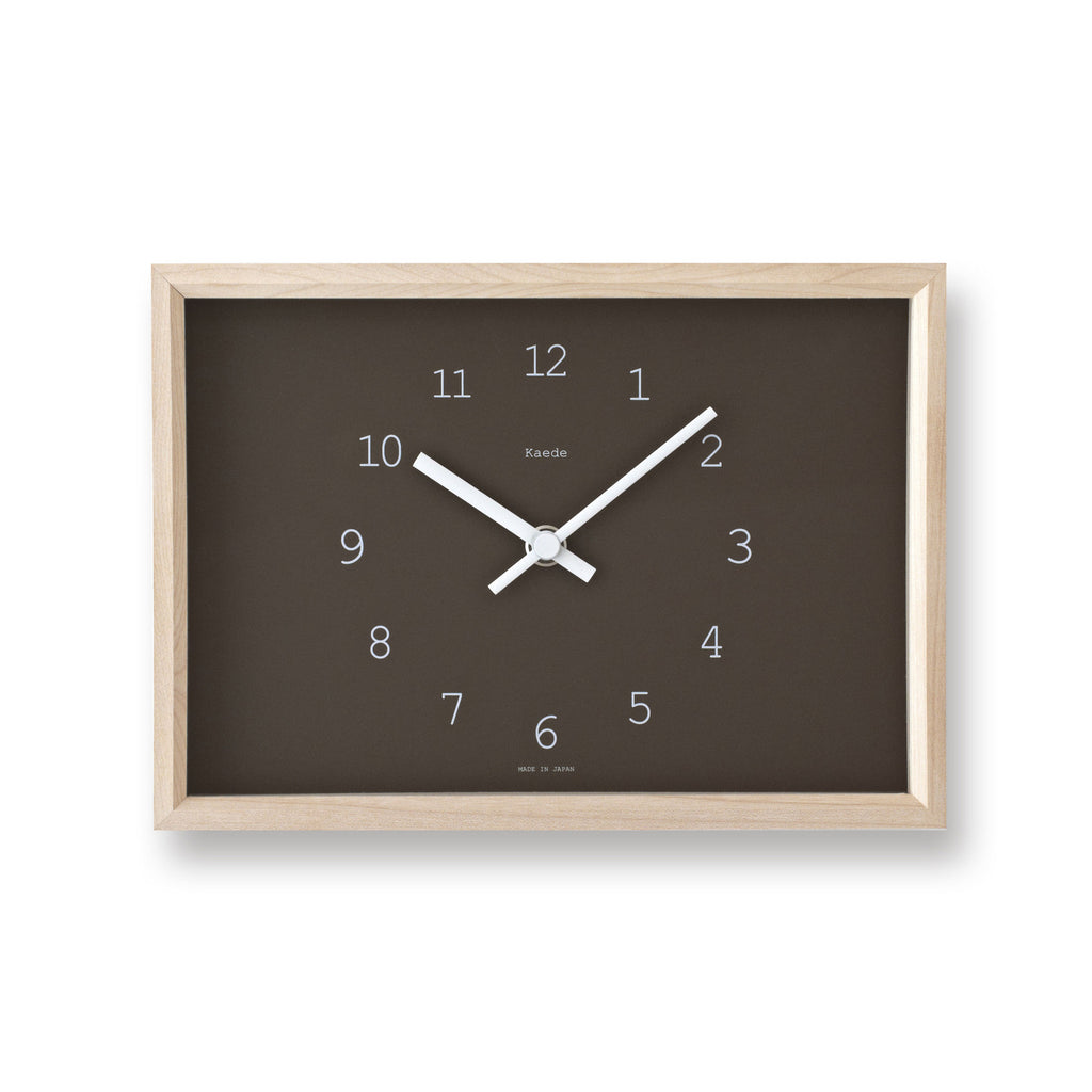 Kaede Clock in Brown