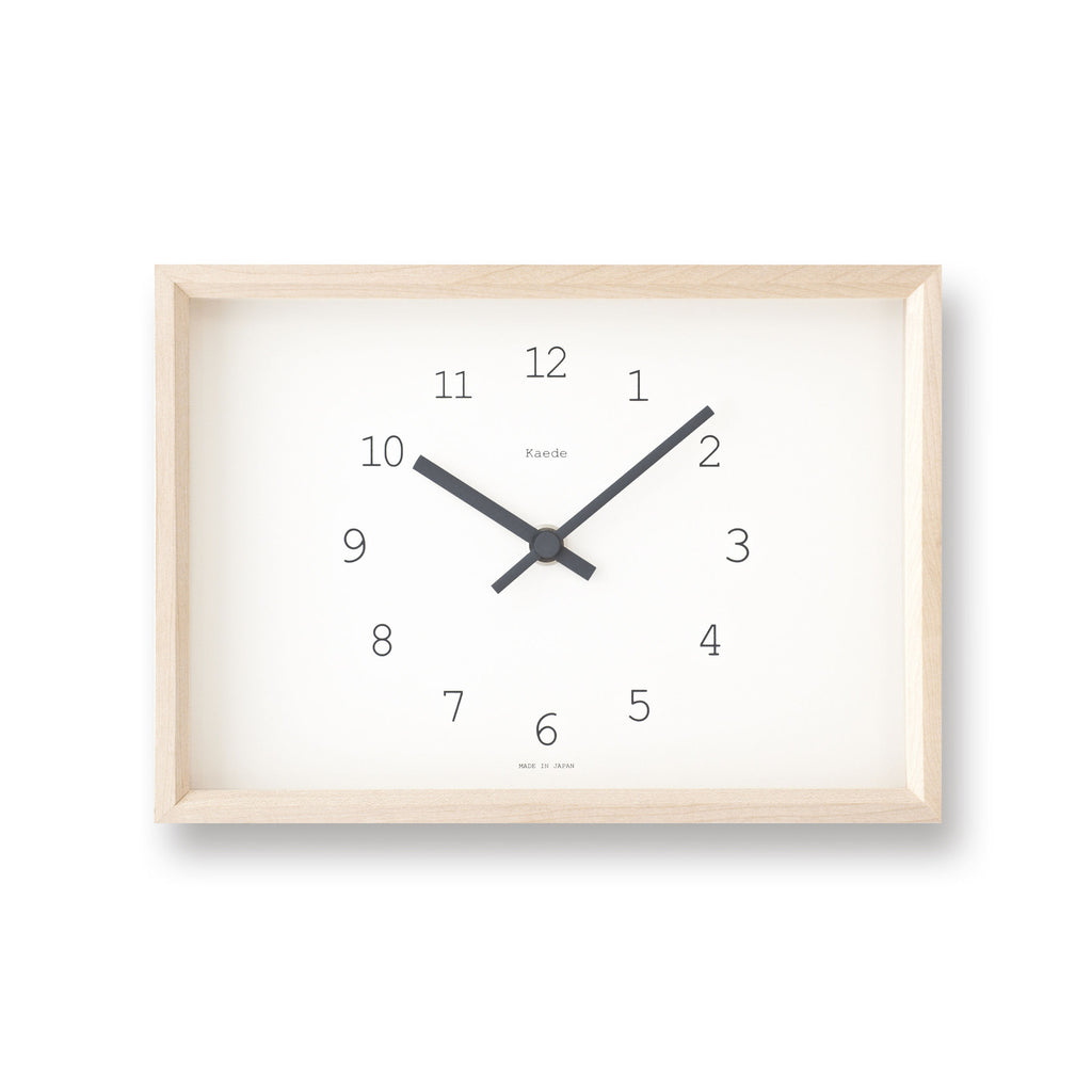 Kaede Clock in White design by Lemnos