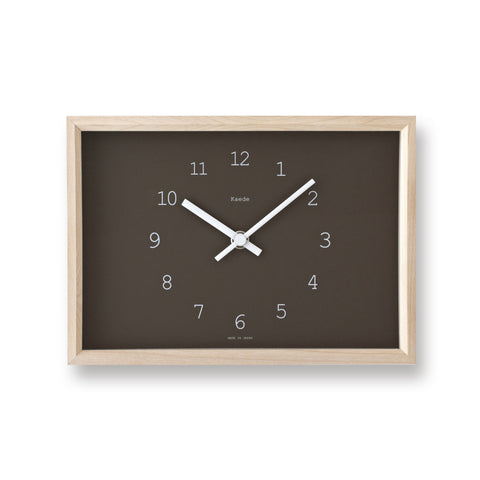Kaede Clock in Brown design by Lemnos