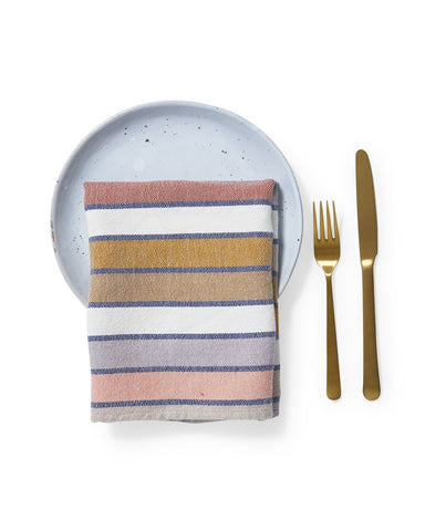 Set of 4 Sunrise Stripe Napkins design by Minna
