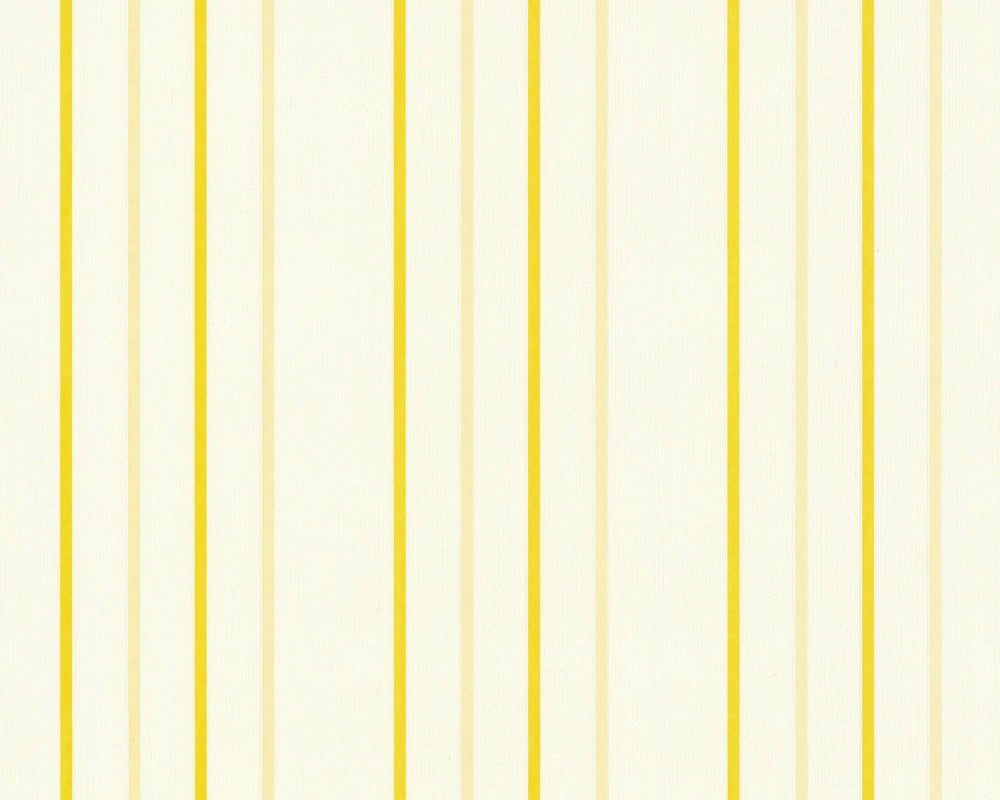 Narrow Stripes Wallpaper in Yellow design by BD Wall