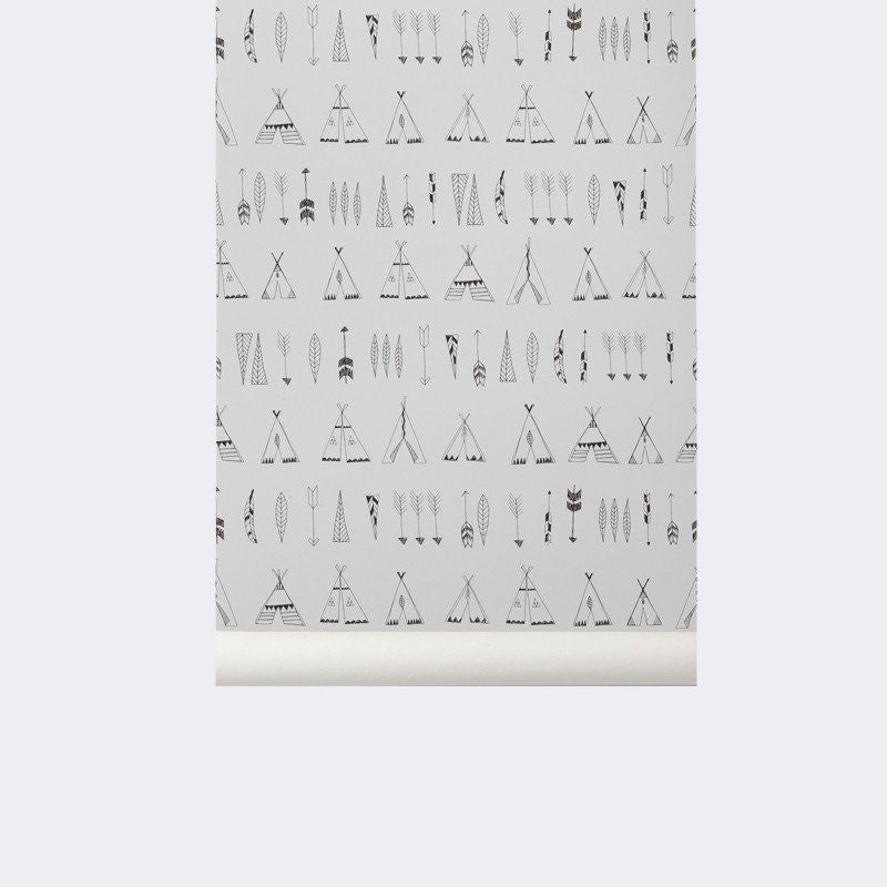 Sample Native Kid's Wallpaper by Ferm Living
