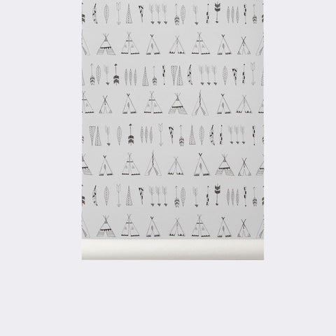 Sample Native Kid's Wallpaper design by Ferm Living