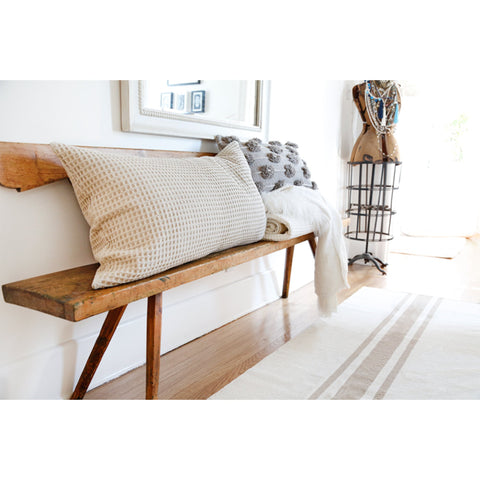 Beachwood Handwoven Rug in Ivory and Natural in multiple sizes by Pom Pom at Home