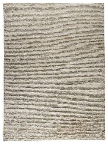 Nature Collection Hand Woven Wool and Hemp Area Rug in White design by Mat the Basics