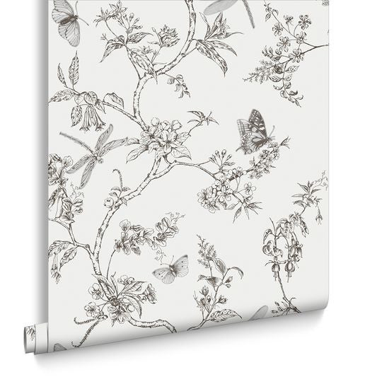 Nature trail white mica wallpaper from the modern living for Kitchen and bathroom wallpaper
